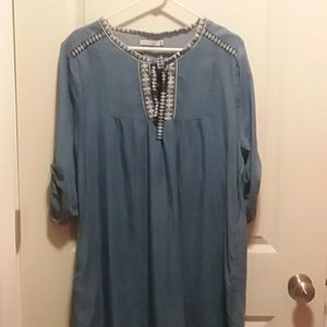 Kenneth Cole Reaction Chambray Tunic Dress